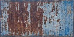 old grunge metal background, A old blank rusty metal sign with a copy space background for your text, Old rusty steel sign