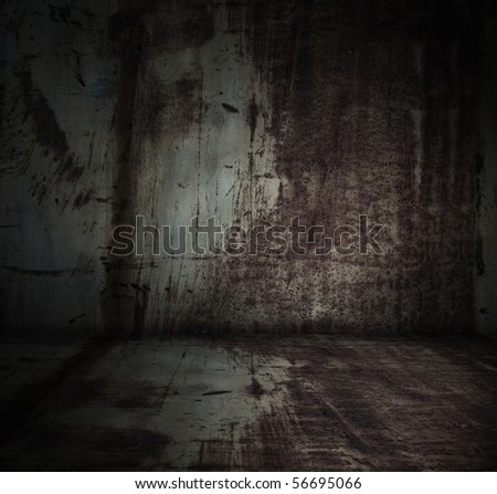 old grunge metallic interior