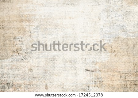 OLD GRUNGE NEWSPAPER BACKGROUND, SCRATCHED GRAINY PAPER TEXTURE, WEATHERED PATTERN WITH SPACE FOR TEXT Foto stock ©