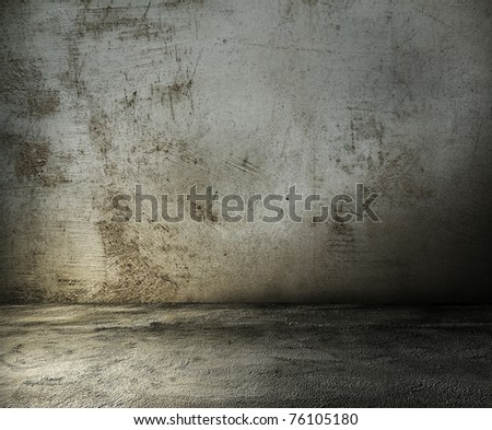 old grunge room, dirty wall