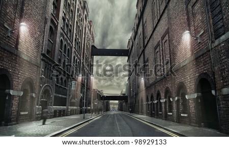 Old grunge street
