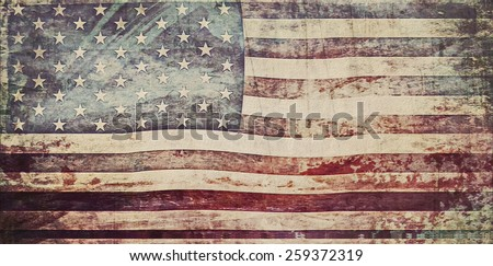 old grunge usa flag