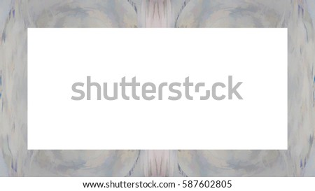 Old Grunge Weathered Peeled Painted Plaster Wall Frame With Abstract Antique Cracked Texture. Retro Stucco Scratched Pattern. Empty Space For Image, Text. Rectangle horizontal Banner #587602805