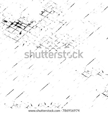 Old grunge weathered wall background. Abstract backdrop with cracks, spots, stains. Damaged antique surface