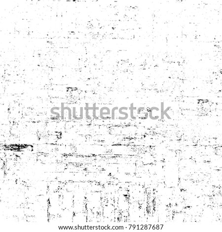 Old grunge weathered wall background. Black and white abstract texture. Background of cracks, scuffs, chips, stains, ink spots, lines. Dark design background surface. Gray printing element #791287687