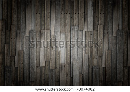 Old grunge wood panels used as background