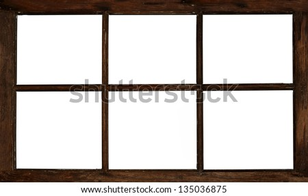 Wooden Window Frame Texture Old Grunge Wooden Window Frame
