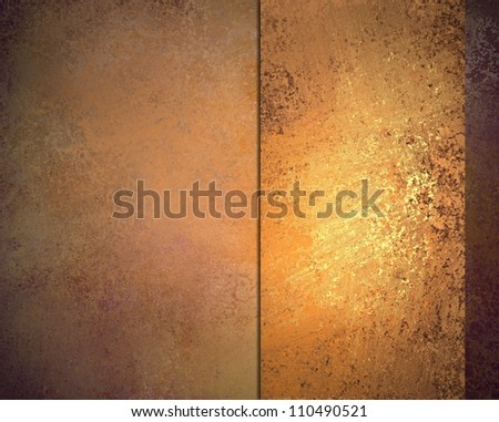 old grungy abstract background, orange gold color ribbon on vintage grunge background texture, warm elegant brown background paper, orange yellow color for fall autumn background or Thanksgiving