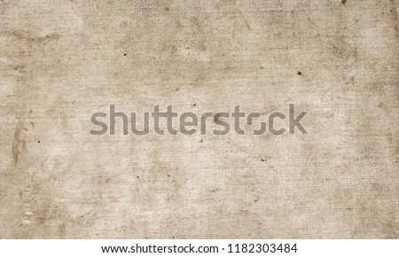 Old grungy canvas pattern with dirty spots in brown tone. Abstract background, texture, surface for any design. Stock photo ©