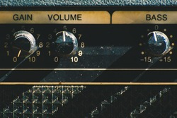 Old guitar amplifier control panel