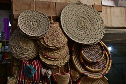 Old handicraft from Qatar displayed in the market