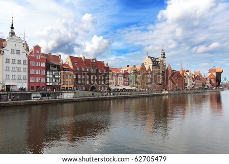 Old harbour in Gdansk