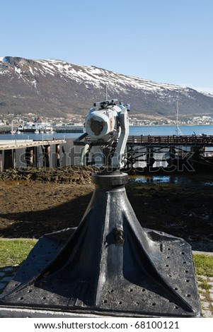 Old harpoon for whale hunting