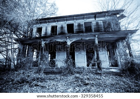 Old haunted house in the woods #329358455