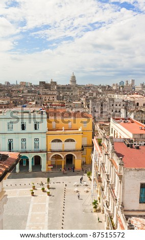 old havana with the capitol in...