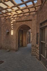 Old heritage passage at Al Seef, Dubai, UAE