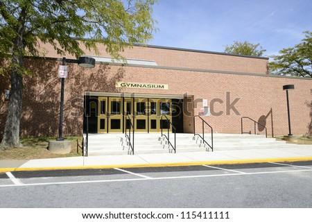 old high school gymnasium entrance