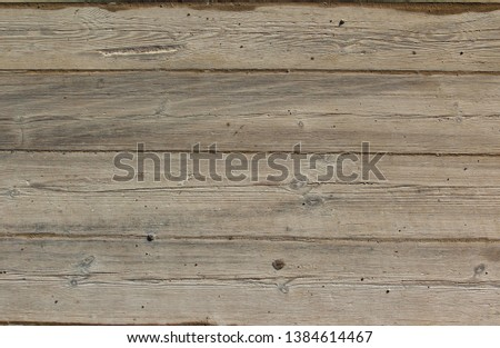 Old hight brown wood panel horizontal pattern, horizontal striped background or backdrop. Vintage, rustic or retro style. #1384614467