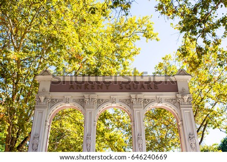 old historic ankeny square arch ...