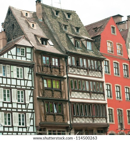 Old historic buildings in Strasbourg, France