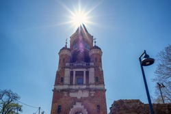 Old historic Gardos Millennium Tower in Zemun municipality of Belgrade, capital of Serbia