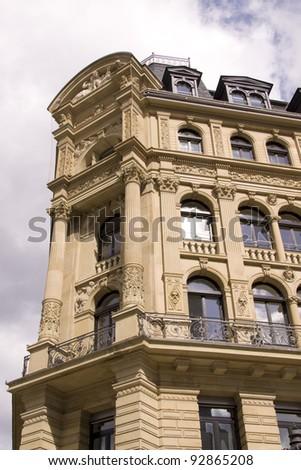 old historical building in Frankfurt in Germany