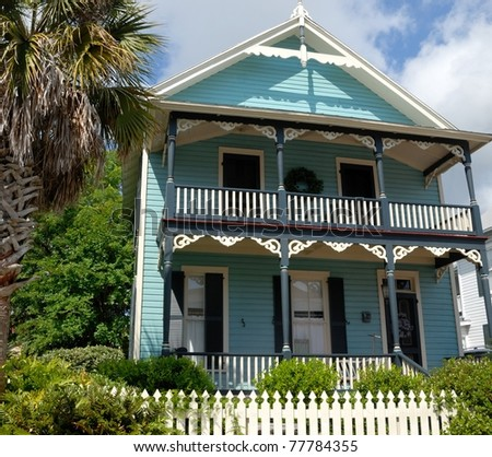 old home restored for sale at historic st. augustine florida usa