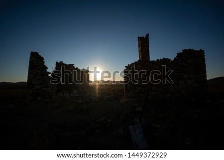 Old Homestead Ruins Hawker Stirling Road South Australia Flinders Ranges Sunset  #1449372929