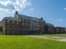 Old hospital building at Governors Island, New York