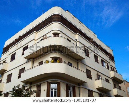 Photo of  Old house In classical traditional Bauhaus style in the white city  Tel-Aviv Israel