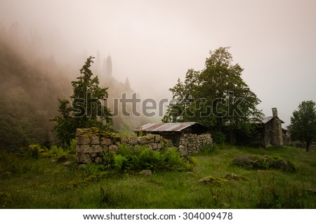 Old house in nature, Ayder