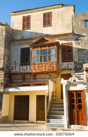 Old house in Rhodes, Greece