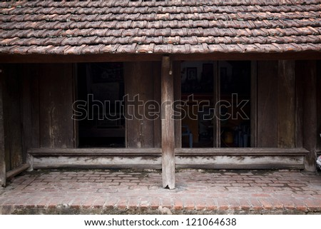 old house in Vietnam - stock photo