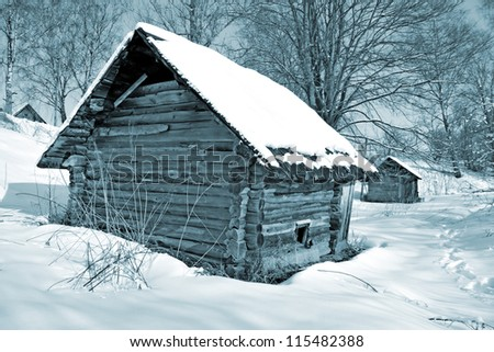 old house in wood