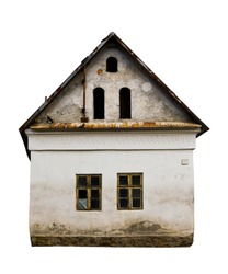 Old house isolated on white background
