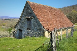 old house stone europe green summer