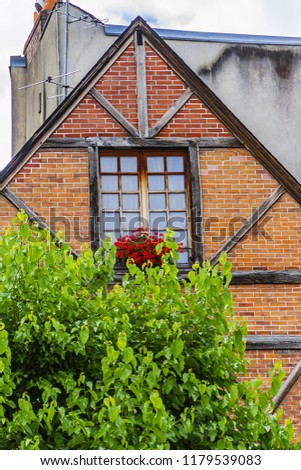 Old houses in medieval city of Tours. City Tours is UNESCO World Heritage Site. Tours - city in central France, capital of the Indre-et-Loire department. France. #1179539083