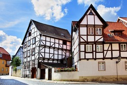 Old houses in Quedlinburg, Germany