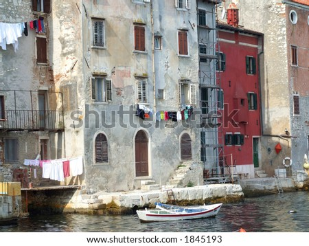 Old houses in Rovinj