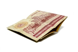 Old hundred Rupee Pakistan Currency