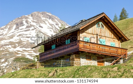 old hut at the european alps