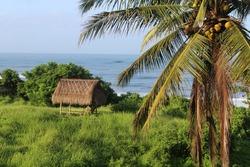 old hut in bali Indonesia