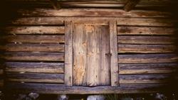 Old hut rustic wooden door