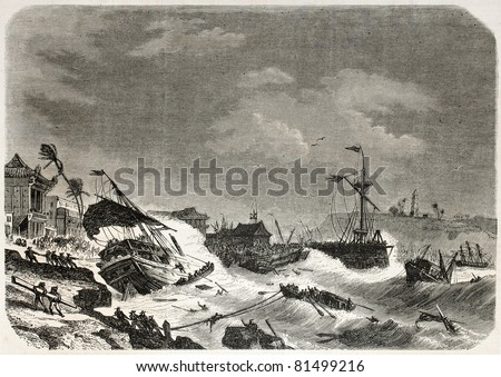 old illustration of a storm...