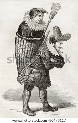 old illustration of man and...