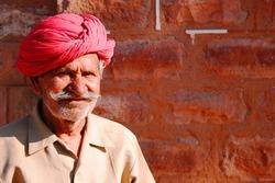 Old Indian man in turban