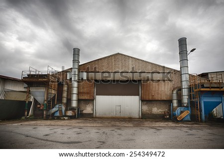 Old Industrial Building #254349472