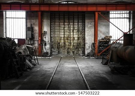 old industrial metal gate