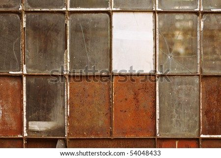Old industrial windows
