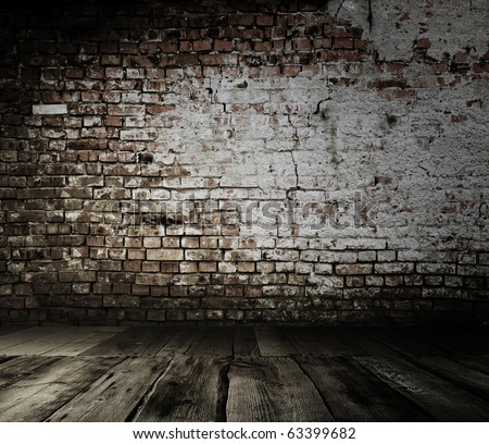 old interior with brick wall